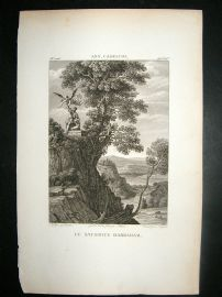 After Ann. Carrache C1810 Antique Print. La Sacrifice Dabraham